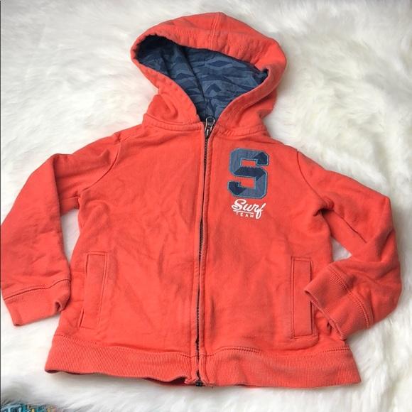 OshKosh B'gosh Other - Oshkosh 3T zip up hoodie orange surf boys toddler